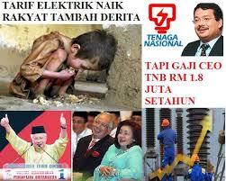 Tarif elektrik menyiksa rakyat tetapi gaji CEO TNB RM1.8 juta setahun???