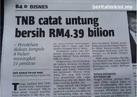 TNB CATAT UNTUNG BERSIH RM4.39 BILION....