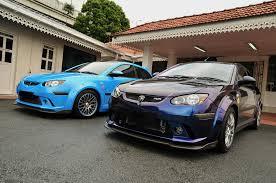 These two cars are Proton Satria Neo R3 Supercharged belong to Sultan Johor, the ruler of Johor state, MALAYSIA.
